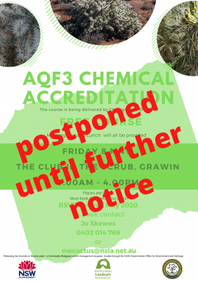 AQF3 Chemical Accreditation POSTPONED
