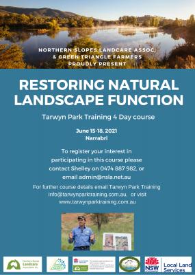 Restoring Natural Landscape Function