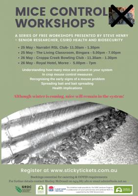 Mice Control Workshop Series - Narrabri, Bingara, Croppa Creek and Moree